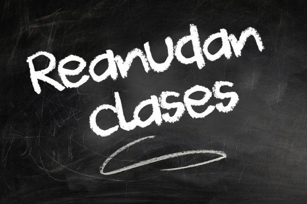 Reanudación de clases